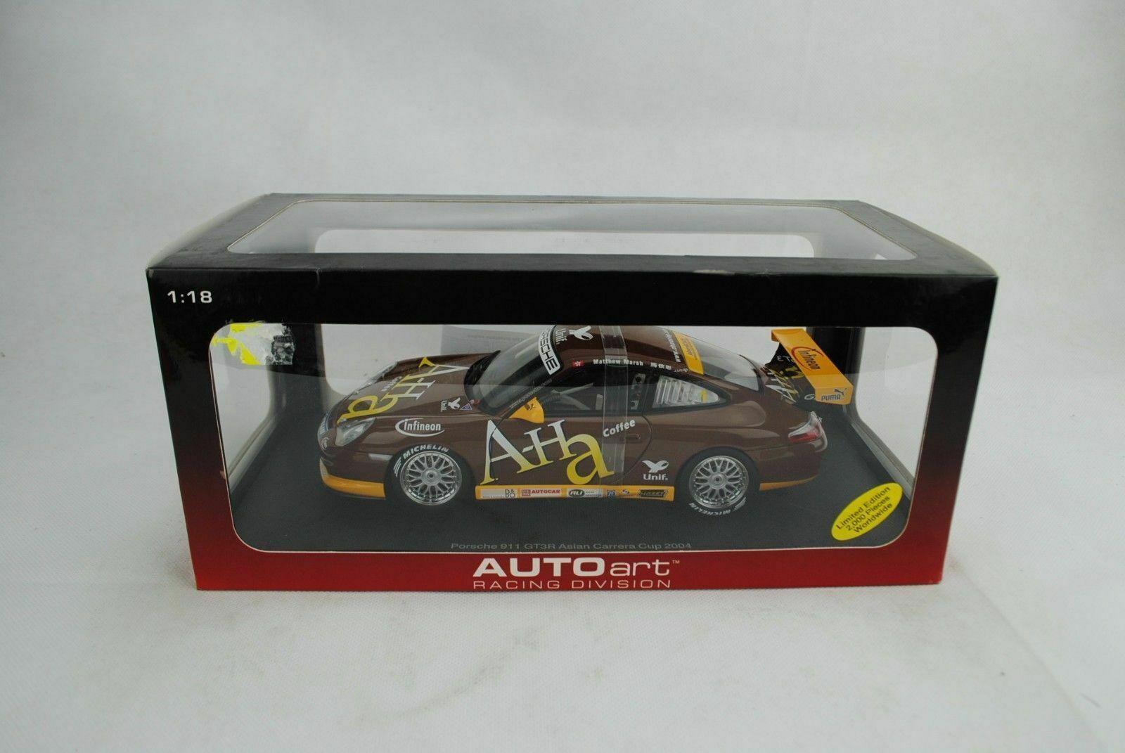 1 18 Autoart 80498 PORSCHE 911 gt3r Asian Carrera Cup 04 Marsh  1 a-ha disponibilità limitata