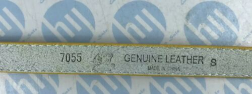 "32/"" yellowcolour Skinny Cintura in vera pelle donna 18mm X89cm di lunghezza si adatta a 27/"""