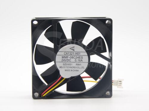 Brand New CA1321-H01 Melco MMF-08C24ES-RM1 80mm 8025 DC24V 0.16A