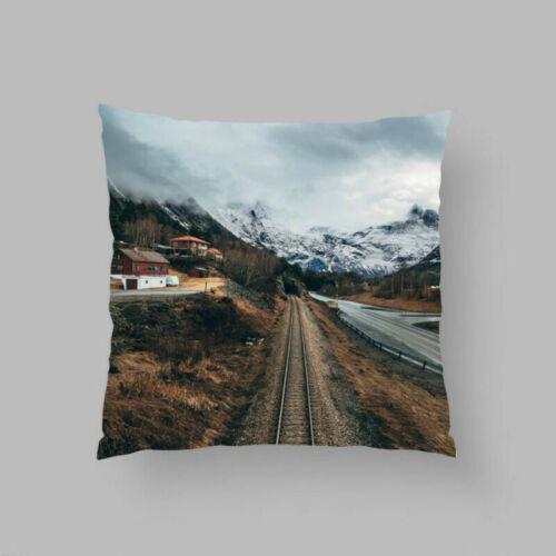 Elegant Flower Summer Waist Cushion Cover Throw Pillow Case Car Home Sofa Decor
