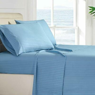 Fitted Sheet King XL Size Multi Color 600 TC Pocket Drop Up to 6 To 24 Inch