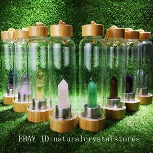 Natural-Quartz-Crystal-Obelisk-Point-Wand-Elixir-Water-Bottle-Reiki-Rock-Healing