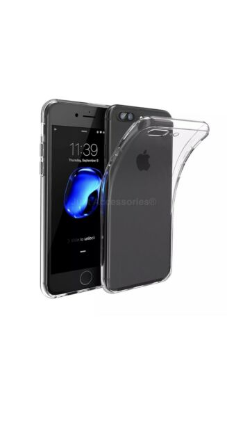 Clear Transparent Ultra Slim Silicone Gel Case Cover for the New iPhone 7 plus