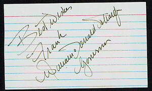 William-Donald-Schafer-d-2011-signed-autograph-3x5-58th-Governor-of-Maryland