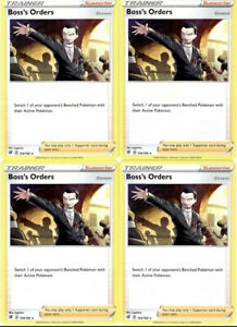 4x-Pokemon-Trainer-Card-Set-Boss-039-s-Orders-154-192-Rebel-Clash-Non-Holo-Cards