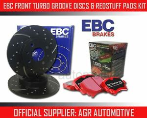 EBC-FRONT-GD-DISCS-REDSTUFF-PADS-256mm-FOR-LOTUS-ELAN-M100-1-6-TURBO-1989-97