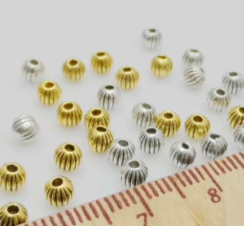 Free Ship 1000PCS Tibetan Silver Glod Spacer Beads For Jewelry Making 4mm