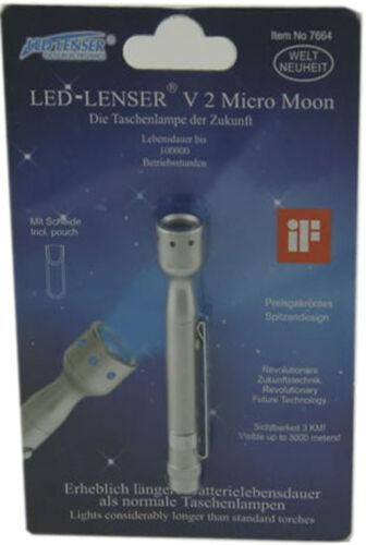 LED LENSER Zweibrüder 7664 Micro Moon V2 Taschenlampe Handlampe Campinglampe