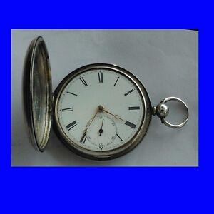 Stunning-Silver-Fusee-Scottish-Edinburgh-Hunter-Pocket-Watch-1874-PROJECT