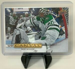 2019-20-Upper-Deck-Ben-Bishop-UD-Canvas-Insert-Dallas-Stars-C67