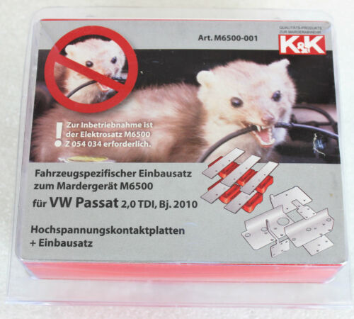 Einbausatz Marderabwehr Hochspannungskontaktplatten K/&K, VW Passat