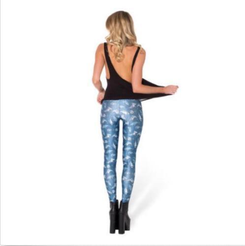 Woman legging Cute Blue shark Printed legging Slim leggings S-4XL 175