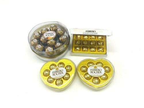 DOLLHOUSE MINIATURES MIX BOX OF CHOCOLATE FERRERO ROCHER GIFT SET 4 PCS 1:12