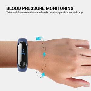 Bluetooth Smart Armband Uhr Fitness Herzfrequenz Kalorien Schritte Armband M3 6