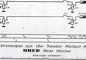 Uher Service Schaltplan für Mischpult M 153 A-B | eBay
