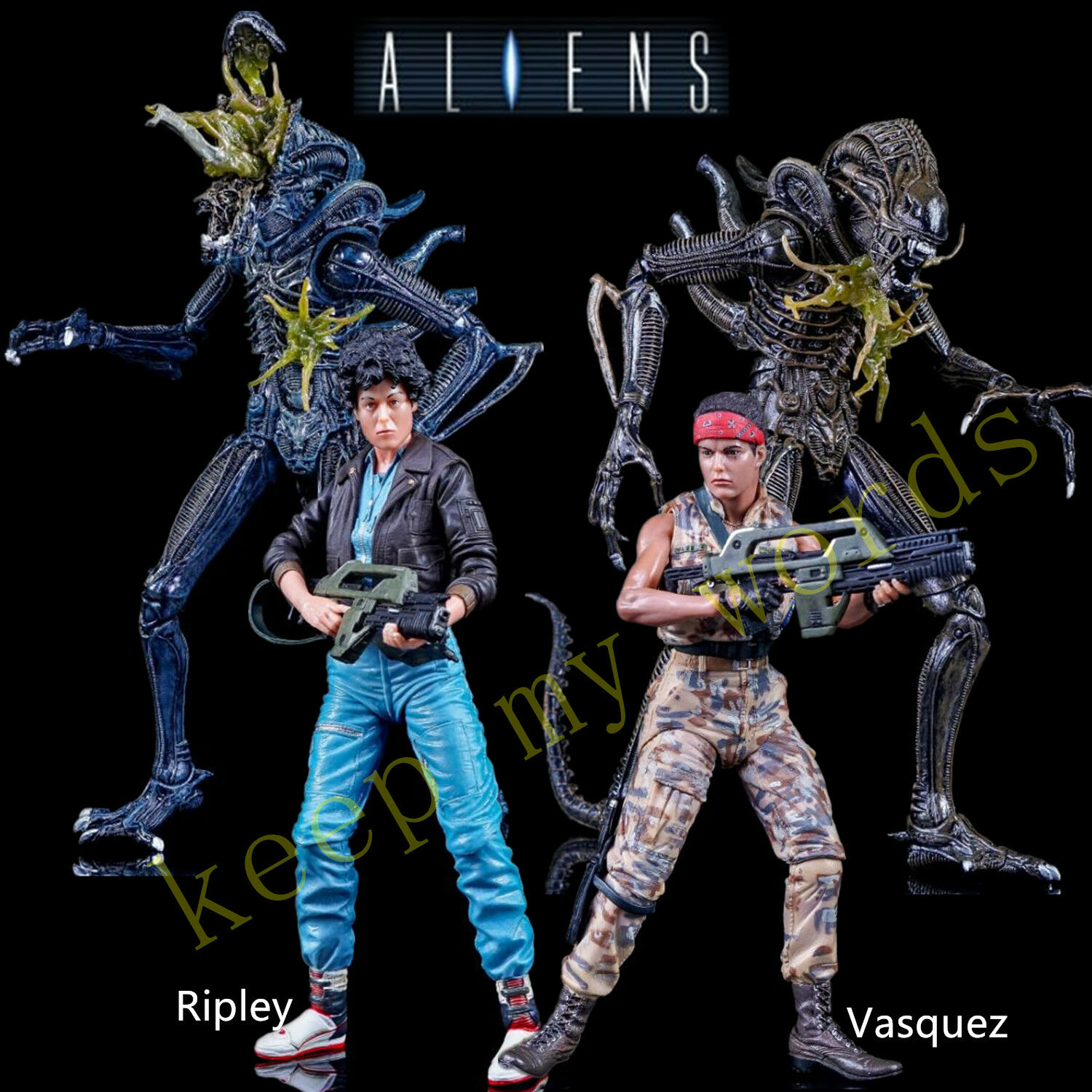 NECA 7  ALIENS 2 movie SERIES 12 PVC ACTION FIGURE Ripley Vasquez Xenomorph New