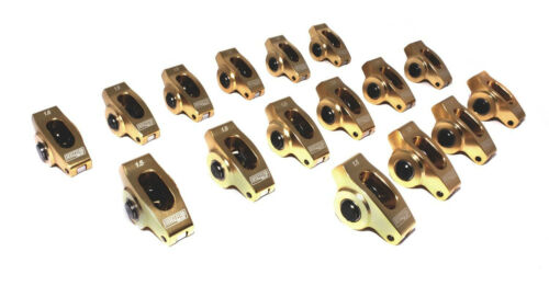 "COMP CAMS 19001-16 ULTRA GOLD ROCKER ARMS SBC CHEVY V8 3//8/"" STUD 1.5 RATIO"