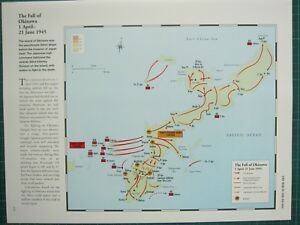 Image Is Loading WW2 WWII MAP THE FALL OF OKINAWA 1