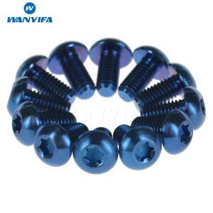 12Pcs-Titanium-Ti-M5-x10mm-Screws-Torx-T25-Head-Titanium-Disc-Brake-Rotor-Bolts