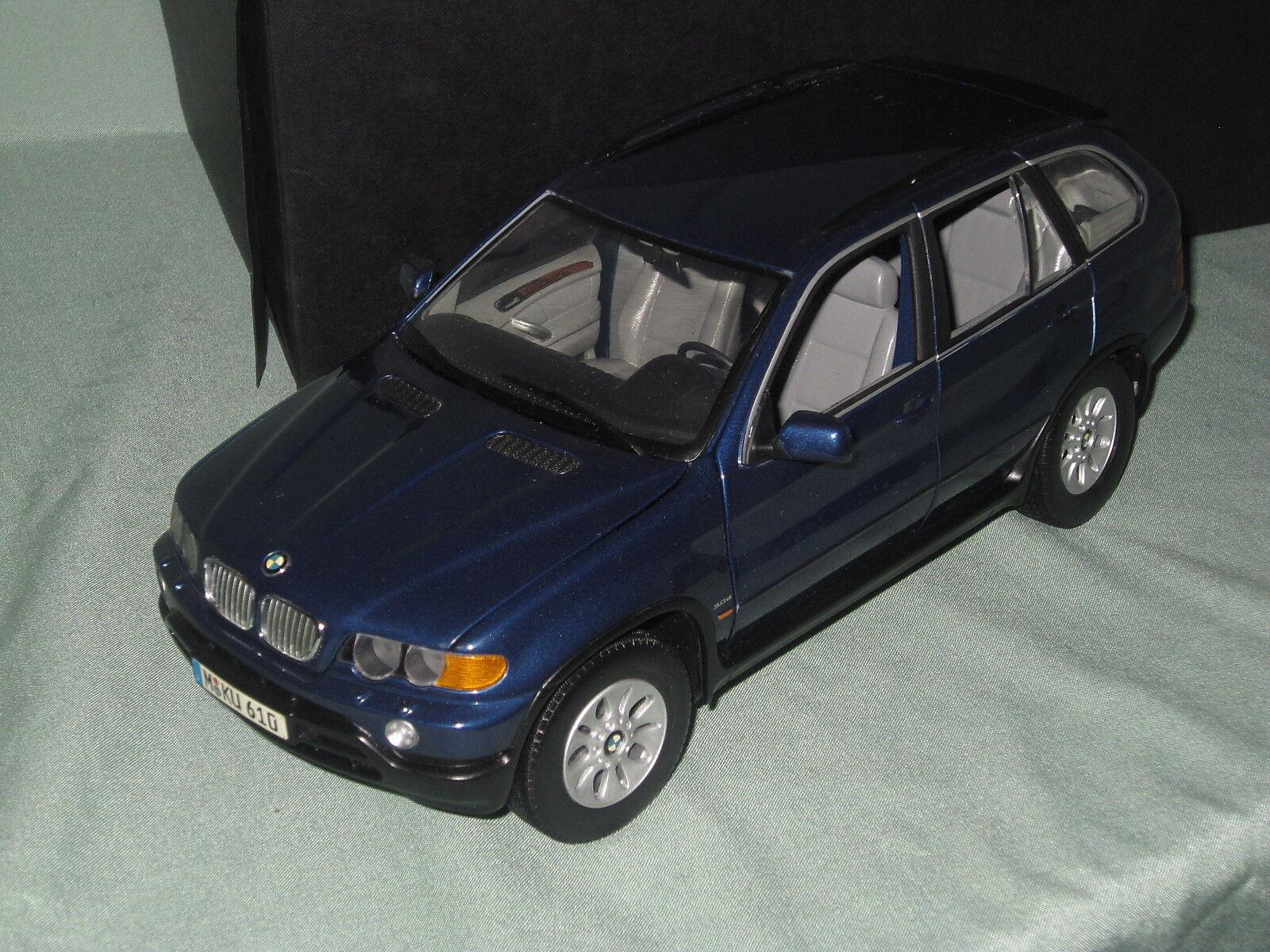 Z464 KYOSHO BMW X5 X5 X5 3.0 D BLEU METALLISE BLUE 1/18° TBE BOITE | Large Sélection  31335d