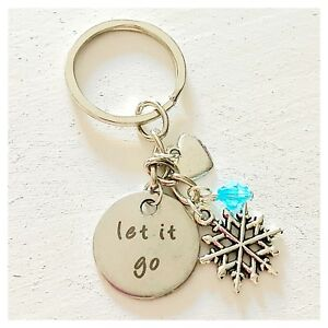 Details about Frozen Elsa-Inspired Silver Keychain Let It Go Gift of Love  Key Ring