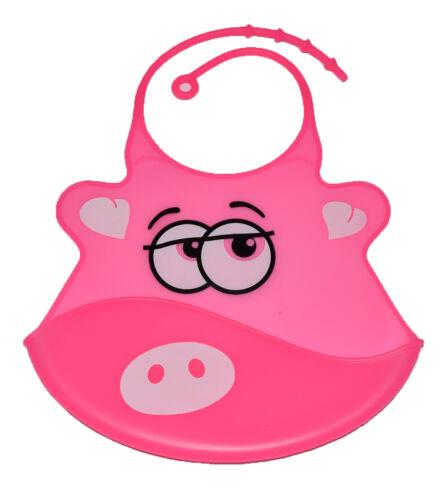 Impermeable Bebé de Silicona Baberos Crumb Catcher Bolsillo Limpiar alimentación Baberos del niño