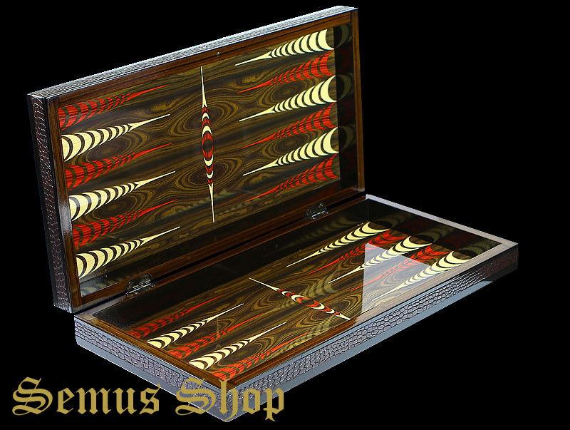 Luxus Backgammon Tavla Elegance XXL avec Bois Massif Spielstene