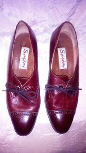 scarpe donna vera pelle marrone n 38 e 12