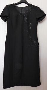 festliches-sehr-hochwertiges-Designer-Kleid-Gr-M-40-schwarz