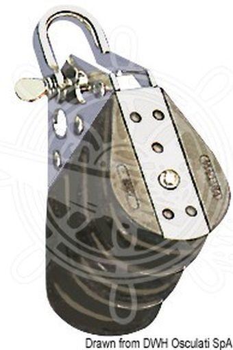 Viadana Dreifachblock auf Kugellagern mit Wirbel 10x38mm