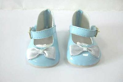 """Lt. Blue Mary Janes - Sized For American Girl® & Other 18"""" dolls"""