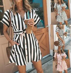 Women-039-s-Clubwear-Holiday-Summer-Mini-Jumpsuit-Playsuit-Romper-Beach-Shorts-Dress