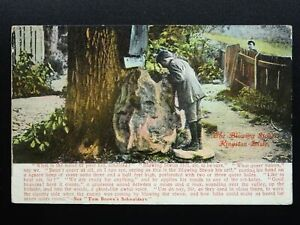 Oxfordshire-KINGSTON-LISLE-The-Blowing-Stone-c1908-Postcard-by-Tomkins-amp-Barrett