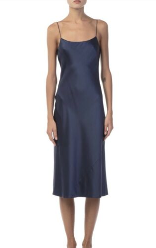 BriskmarineNwt375 jurk Dark 100satijnen achtige Vintage Theorie Telson slip MqUVSzpG