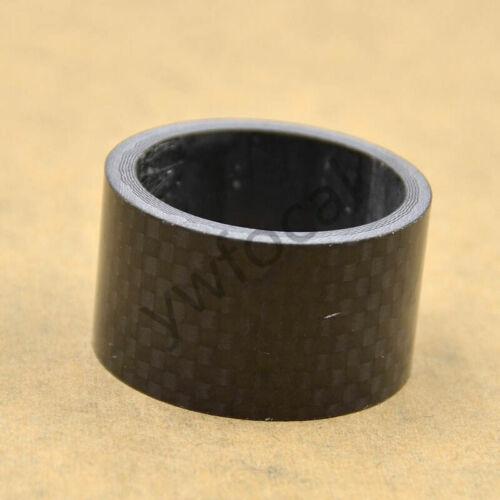 4Pcs Carbon Fiber Stem Washer Spacer Bicycle Bike Headset Fork 5//10//15//20mm DIY