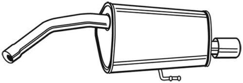 WalkerEndschalldämpfer Hinten 22122 für ALFA ROMEO 156 Auspufftopf