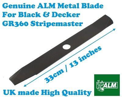 "Black /& Decker GR360 Stripemaster RM33 13/"" Lawnmower Blade A6183"