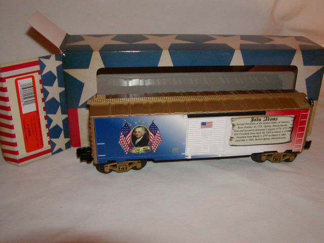 Lionel 6-25930 John Adams Presidential Series Box Car O 027 Made USA 2013