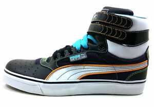 Puma-Men-039-s-Shoes-Sky-High-Vulc-SP-349203-01-Black-White