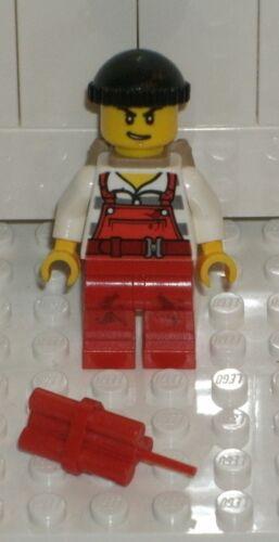 LEGO CITY NEW Male Crook Dynamite 60136 Minifigure Police Starter