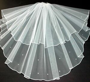 Crystal-Veil-Fingertip-Length-Wedding-Ivory-2-Tier-Sparkle-Hip-LBV145-LB-Veils