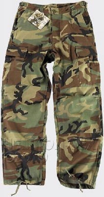 Helikon Tex US BDU Woodland Camouflage Army Trousers Pants XXL Regular