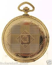 BELLARIA ART DECO FRACK-UHR 14ct GOLD - WUNDERSCHÖN GRAVIERTES GEHÄUSE - UM 1900