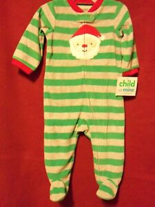 cd4028899827 Carter s Child of Mine CHRISTMAS Santa Claus Cozy One Piece Size ...