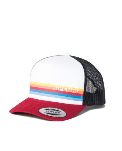 RIP CURL MENS TRUCKER CAP.NEW ECLIPSE WHITE BASEBALL ADJUSTABLE SNAPBACK HAT S20