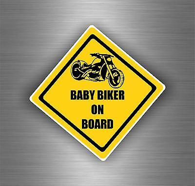 Sticker car motorcycle helmet vinyl chopper biker baby on board