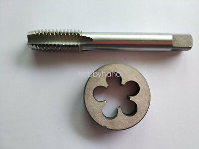 1pcs HSS Machine M11 X 1.0mm Plug Tap and 1pc M11 X 1mm Die Threading Tool
