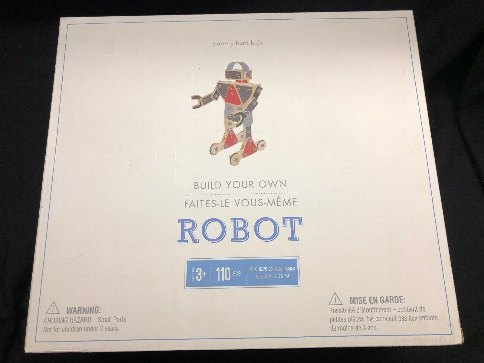 Pottery Barn Kids Build Your Own Big Robot Toy-NIB  Great gift