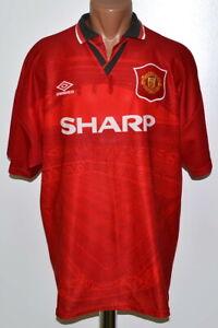 Manchester United 1994/1995/1996 Calcio Casa maglietta jersey Umbro Taglia XL Adulto