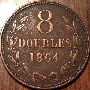 1864-GUERNESEY-8-DOUBLES-IN-GREAT-CONDITION